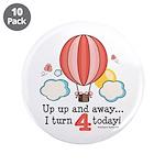 Fourth 4th Birthday Hot Air Balloon 3.5