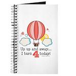 Fourth 4th Birthday Hot Air Balloon Journal