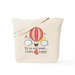 Fourth 4th Birthday Hot Air Balloon Tote Bag