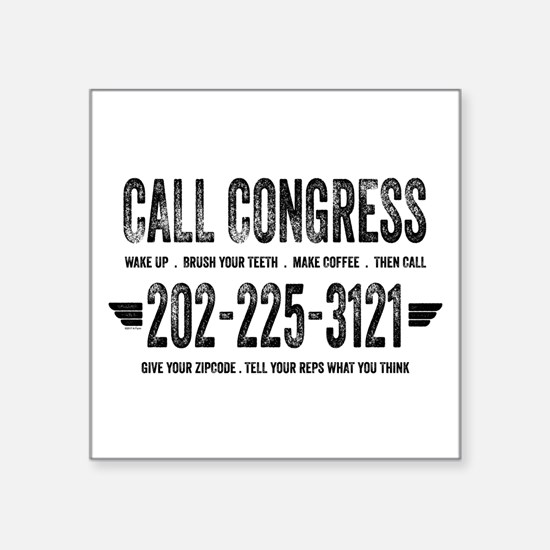 Call Congress Sticker