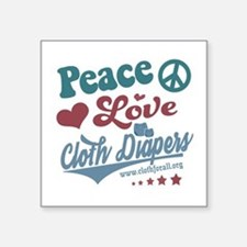 Peace Love & Cloth Diapers Sticker