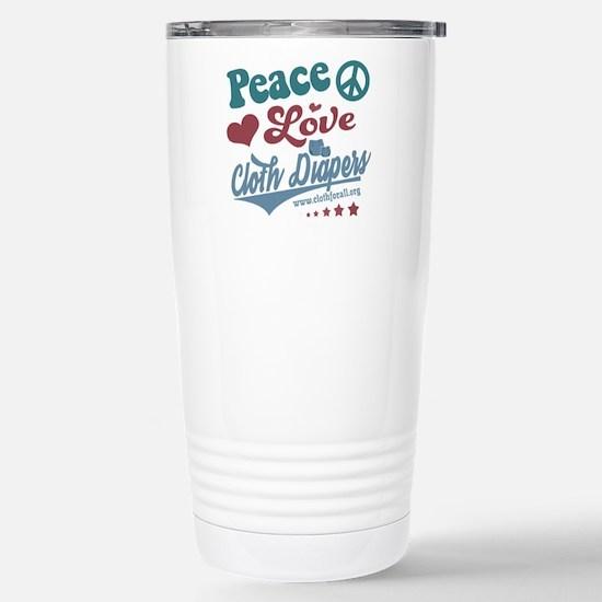 Peace Love & Cloth Diapers Travel Mug