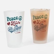 Peace Love & Cloth Diapers Drinking Glass