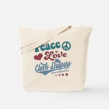 Peace Love & Cloth Diapers Tote Bag