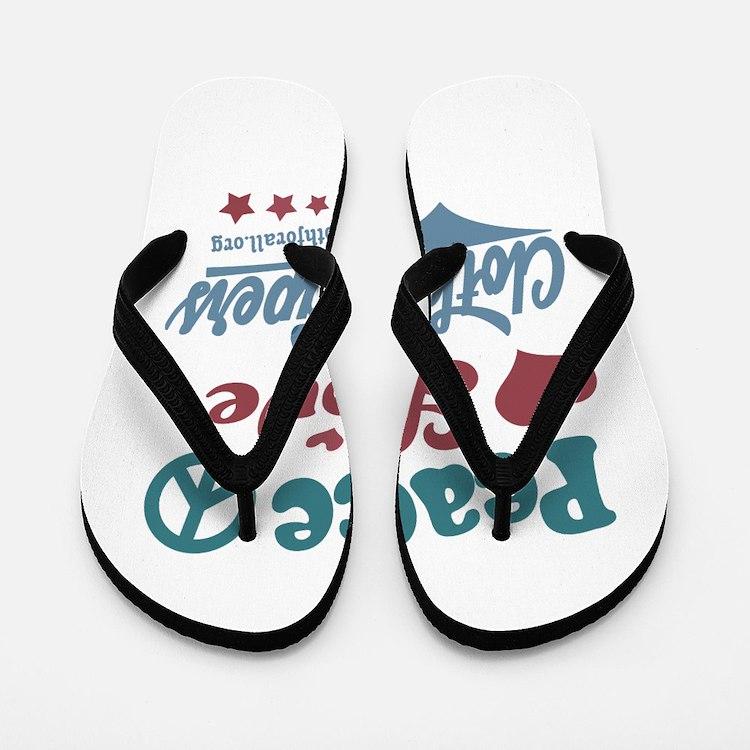Peace Love & Cloth Diapers Flip Flops