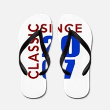 Classic Since 2007 Birthday Designs Flip Flops