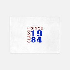 Classic Since 1984 Birthday Designs 5'x7'Area Rug