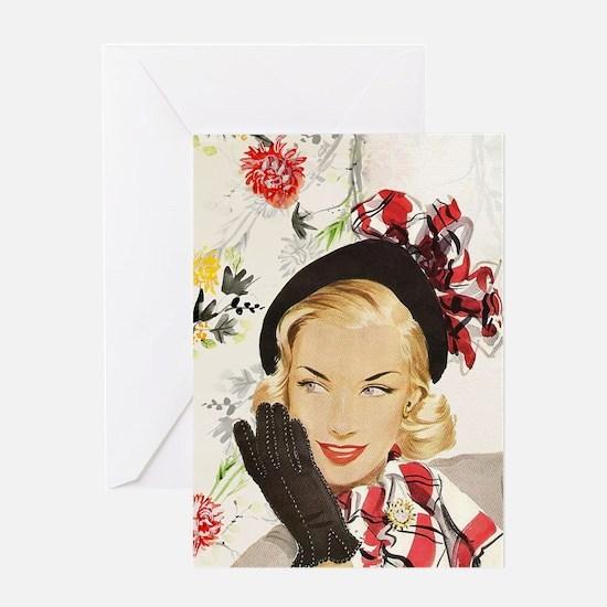 Vintage Blonde Greeting Cards