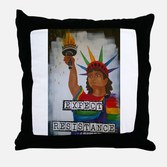 Expect Resistance Throw Pillow