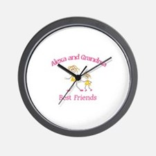 Alexa & Grandma - Best Friend Wall Clock