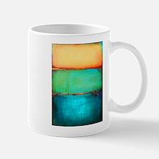 ROTHKO YELLOW GREEN TURQUOISE Mugs