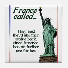 France Called Tile Coaster