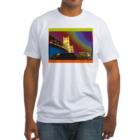 Sacramento bridge Fitted T-Shirt