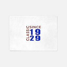 Classic Since 1929 Birthday Designs 5'x7'Area Rug