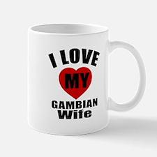 I Love My Gambian Wife Mug