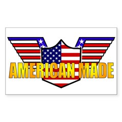 American Made Patriotic Rectangle Decal