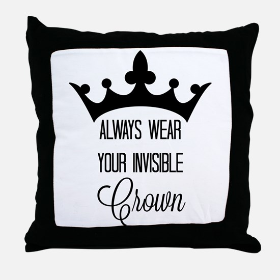 Invisible crown Throw Pillow