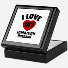 I Love My Jamaican Husband Keepsake Box