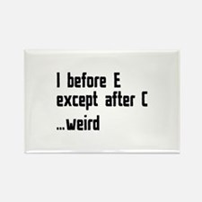 I Before E Rectangle Magnet (10 pack)