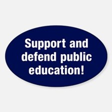 Support Public Education Sticker (oval)