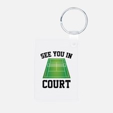 See You In Court Aluminum Photo Keychain