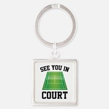 See You In Court Square Keychain