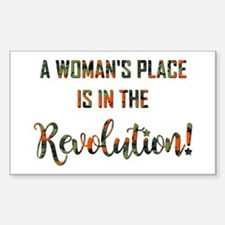 A WOMAN'S PLACE... Decal