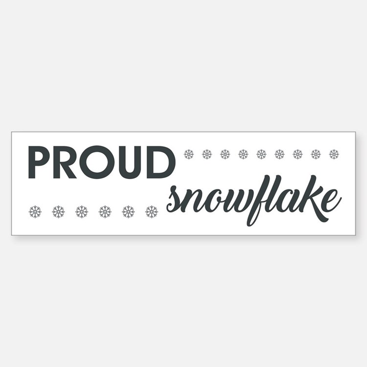 PROUD SNOWFLAKE Bumper Bumper Bumper Sticker