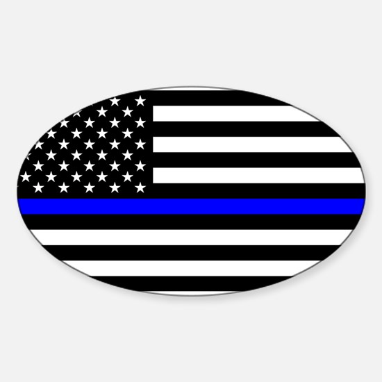 Blue Lives Matter American Flag Police Thi Decal
