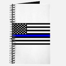 Blue Lives Matter US Flag Police Thin Blue Journal