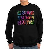 Love trumps hate Sweatshirt (dark)