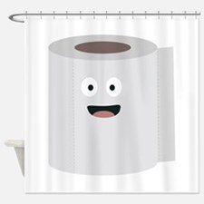 Toilet paper with face Shower Curtain