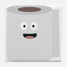 Toilet paper with face Tile Coaster