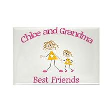 Chloe & Grandma - Best Friend Rectangle Magnet