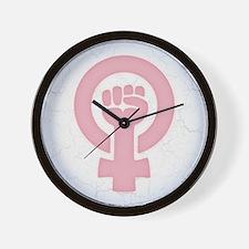 Feminist Fist Wall Clock