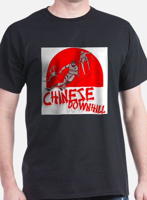 Chinese Downhill Ash Grey T-Shirt