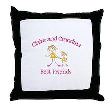 Claire & Grandma - Best Frien Throw Pillow