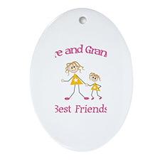 Claire & Grandma - Best Frien Oval Ornament