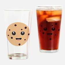 chocolate chip cookie kawaii Drinking Glass