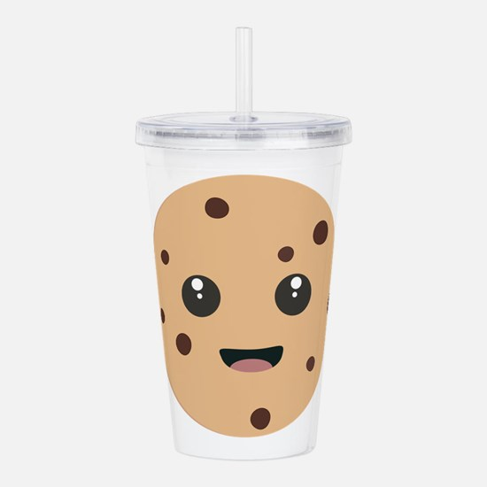 chocolate chip cookie Acrylic Double-wall Tumbler