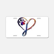 Infinity Paw Aluminum License Plate