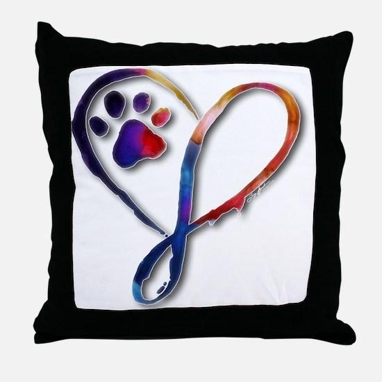 Infinity Paw Throw Pillow