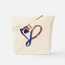 Infinity Paw Tote Bag