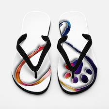 Infinity Paw Flip Flops