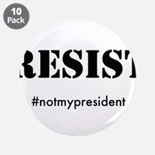 """RESIST 3.5"""" Button (10 pack)"""
