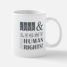 LOVE AND LIGHT AND... Mugs
