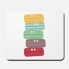 Colorful macarons with eyes Mousepad
