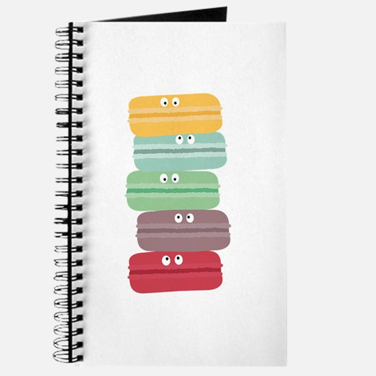 Colorful macarons with eyes Journal