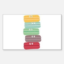Colorful macarons with eyes Decal