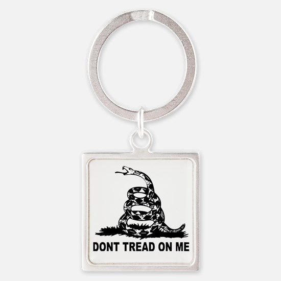 Cute Dont tread me Square Keychain